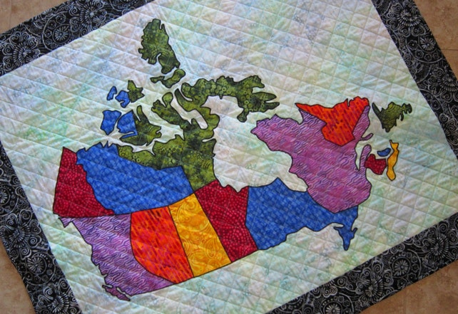 Pdf pattern canada patchwork map quilt pattern from quilts by etsy image 0 gumiabroncs Images