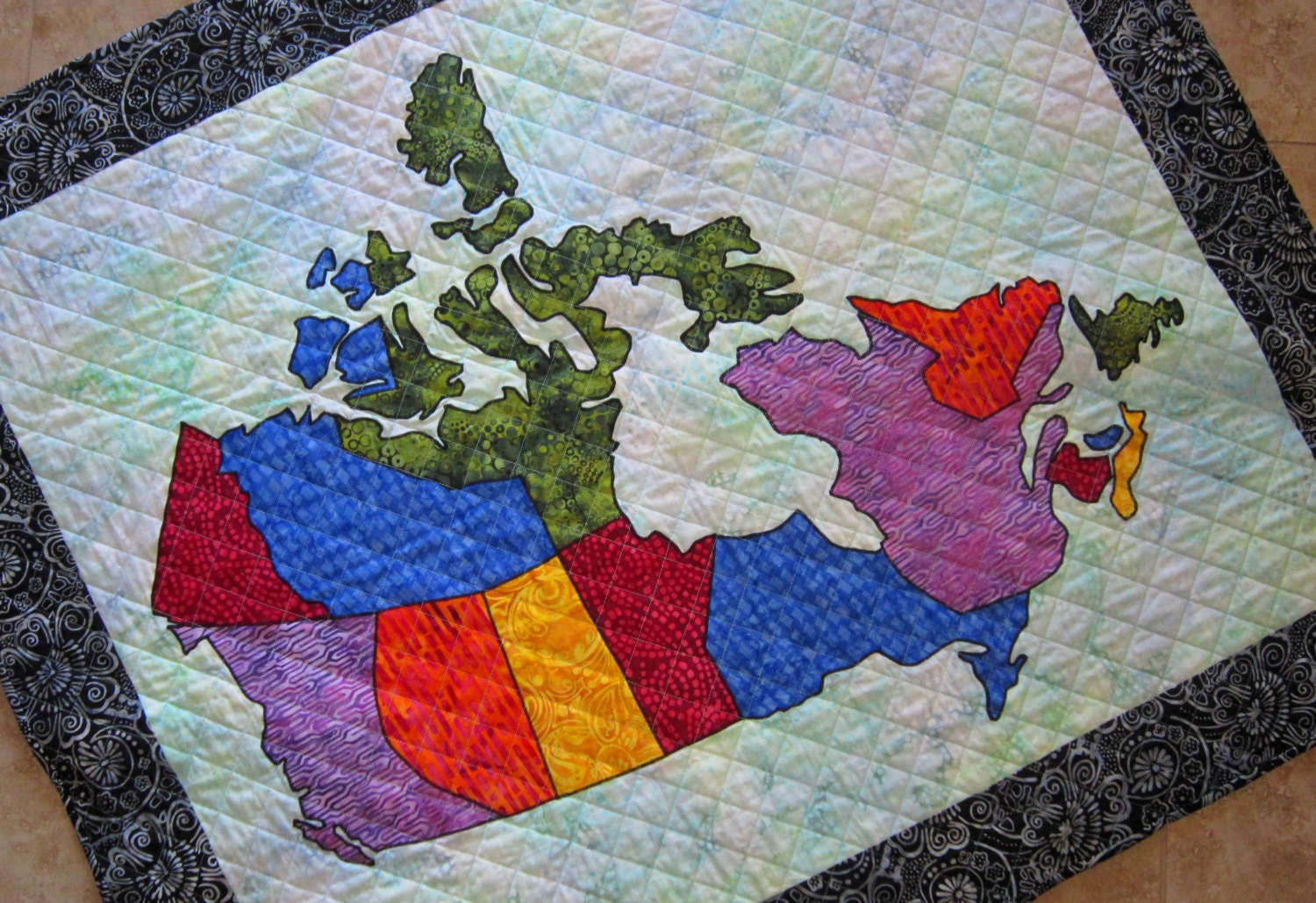 CANADA PATCHWORK MAP Quilt Pattern from Quilts by Elena Full Sized  Templates and Clear Instructions
