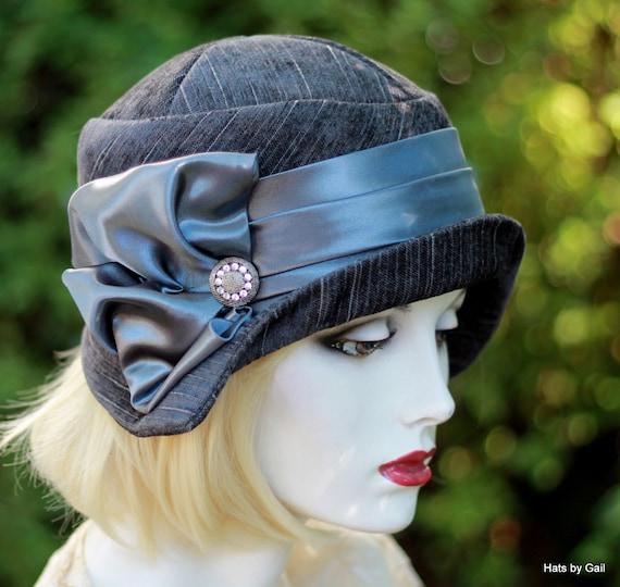 20 s Vintage Style Cloche Hat Flapper Roaring Twenties Art  4a8ab0f3d03