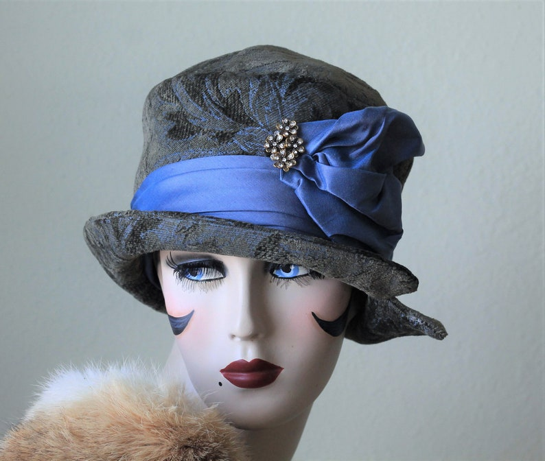 903c5446fcaab Womens Hat Cloche Vintage Flapper Style 20s Art Deco Downton | Etsy