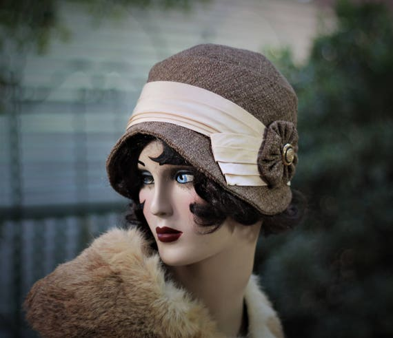 Womens Winter Cloche Hat 20s Vintage Style Great Gatsby  2a88f5473f4d