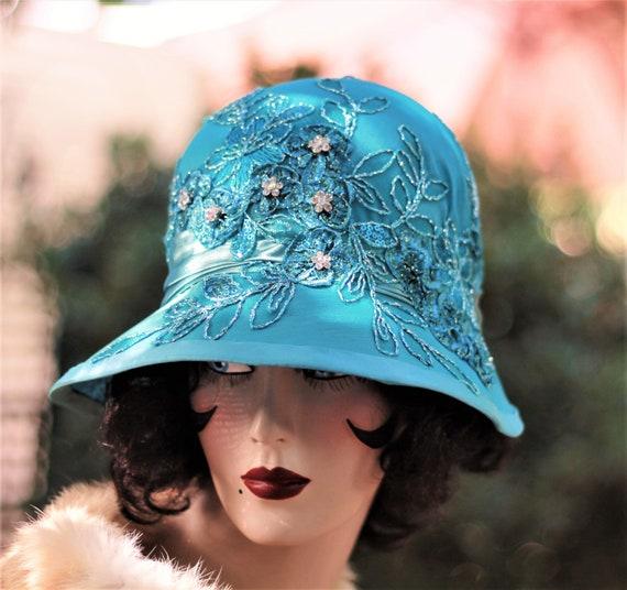 Formal Hat Vintage Style 20s Great Gatsby Flapper Roaring  50adeefd966