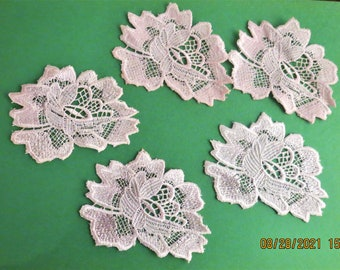 Pink hand dyed appliques