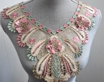 1 pc sew on embroidered collar