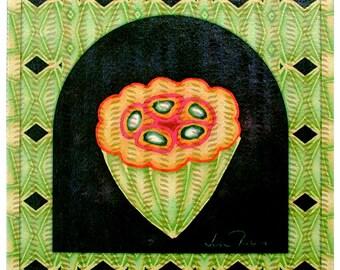 Papaya - archival BOTANICA print on ricepaper