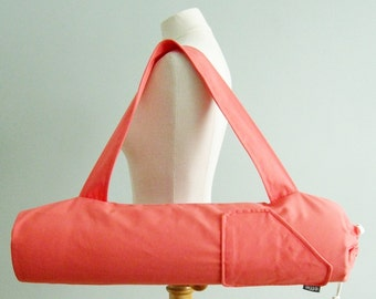Coral Yoga Mat Bag for Woman. Yoga Gift Idea for Her