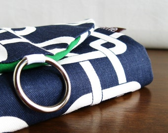 Jewelry Roll. Gifts for Travelers. Navy Links Travel Jewelry Organizer. Travel Jewelry Bag. Womens Travel Gift. Bridesmaid Travel Essentials