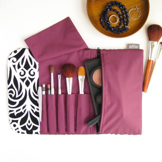 Travel Cosmetic Bag. Makeup Brush Holder. Compact Makeup Case.   Etsy c8e2099f87
