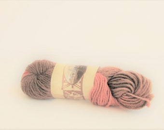 destash yarn made in Belgium thick and thin Pale violet pink Nicole 181 Lion Brand Yarn