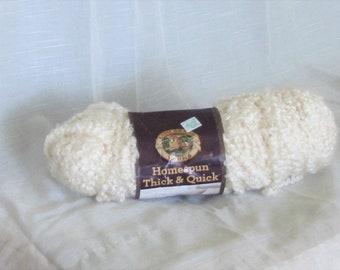 Homespun, Lion Brand Yarn, White Dove, #437, bulky, chunky, destash