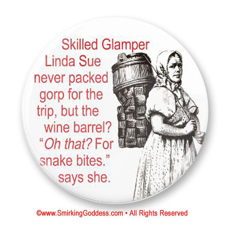 PERSONALIZE THIS  Funny Glamper Magnet image 0
