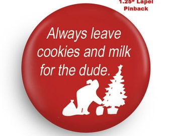 Funny Santa Small PInback, A Fun Stocking Stuffer for Co-Worker