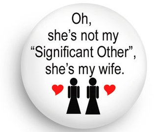 Cute, Gay Lesbian Wedding Favor MAGNET-Gay Wedding Favor Magnet for Brides!