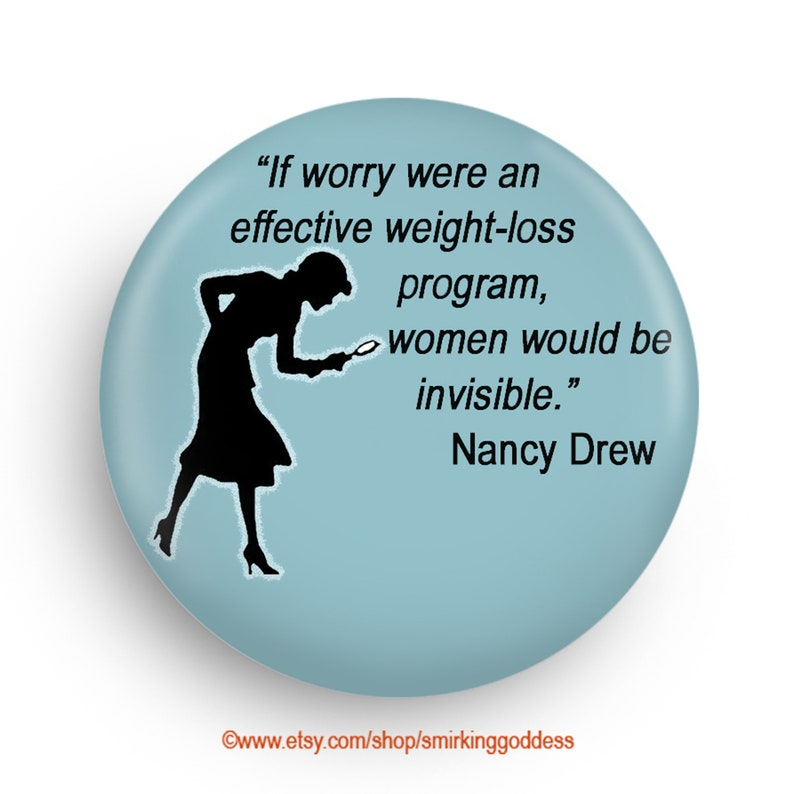 Fun Nancy Drew Fridge Magnet or Pinback Stocking Stuffer for image 0