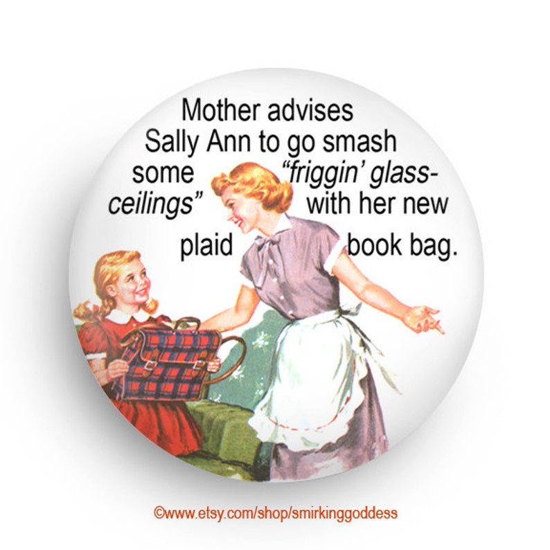 PERSONALIZE This Feminist Magnet  Funny Mother/ Daughter image 0