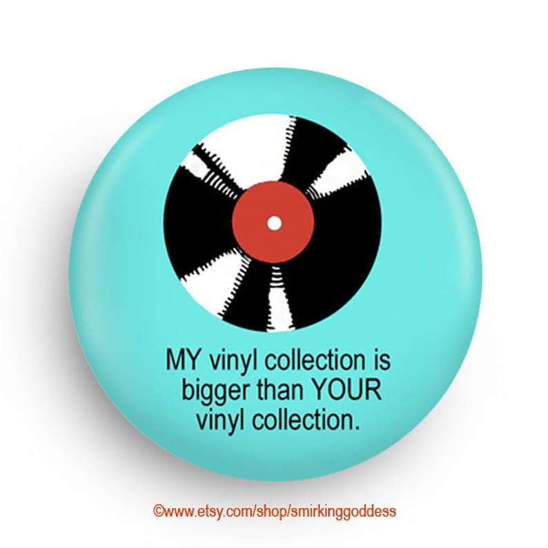 Fun Stocking Stuffer for Vinyl Record Fans Fridge Magnet or image 0