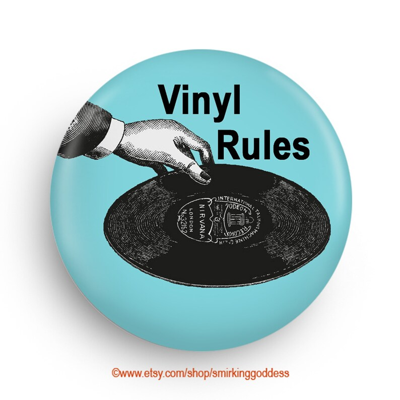 Vinyl Rules Fridge Magnet Fun Stocking Stuffer for Vinyl image 0