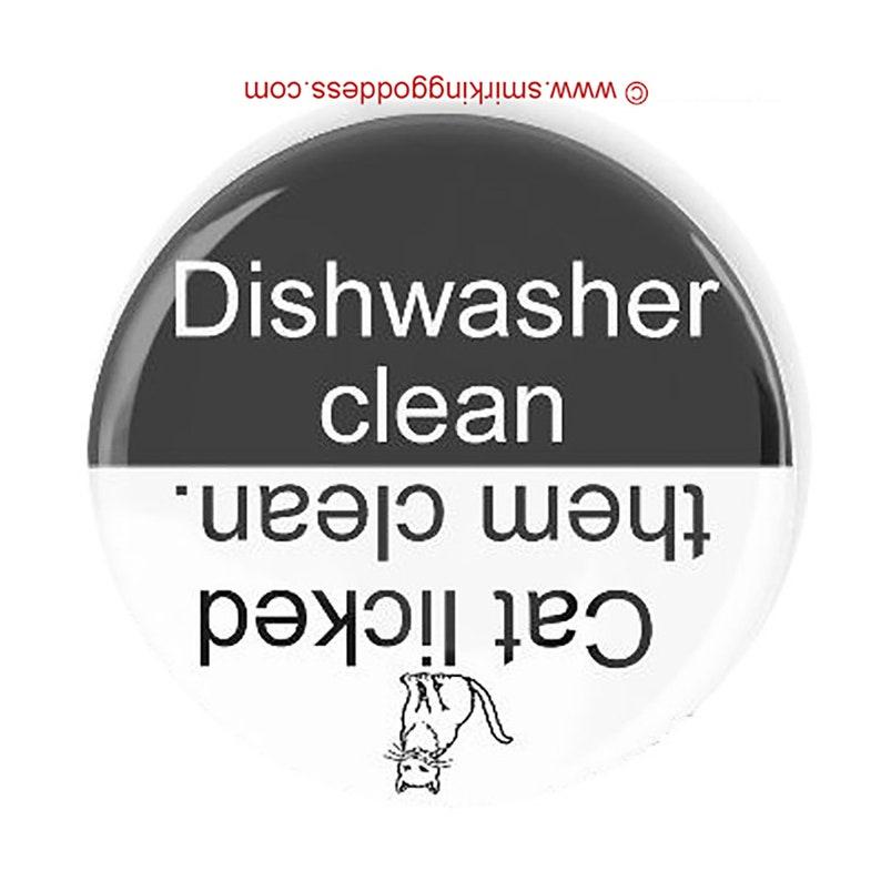 Funny Cat Dishwasher Fridge Magnet Clean Dirty Dishwasher Magnet