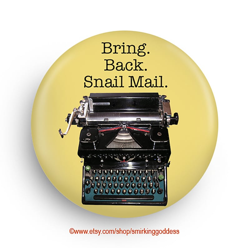 Funny Snail Mail Humor Frdige Magnet Great Gift for image 0