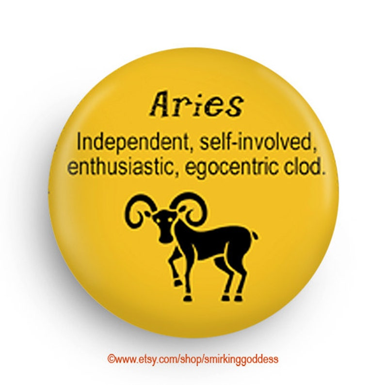 Gift for Aries Funny Horoscope Magnet Zodiac Aries Gift image 0