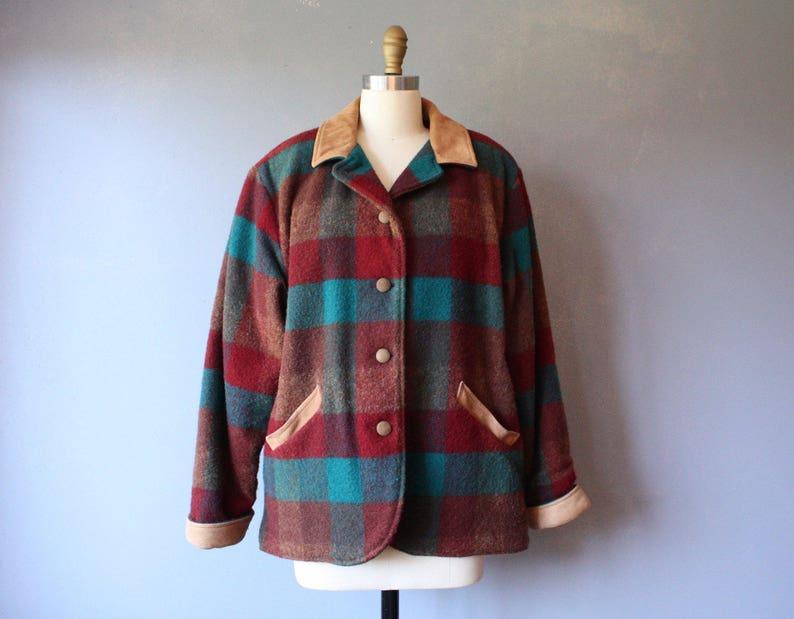 57b7bda8051cf Vintage LL Bean wool jacket / womens plaid hunting jacket / | Etsy
