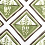 "Dirty Little Tree Hugger 2"" vinyl decal, laptop stickers, cute sticker, bottle sticker, phone sticker, bumper sticker"