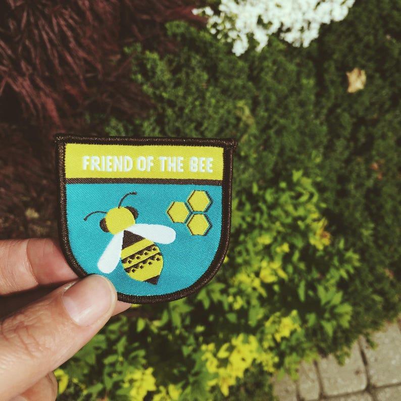 Friend of the Bee patch  2.5 inch woven patch  savethebees  image 0