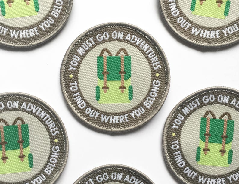 Iron On patches for jackets Go on Adventures inspirational image 0