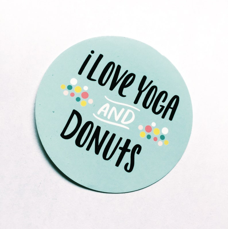 Yoga and Donuts window cling car window decal gifts for image 0