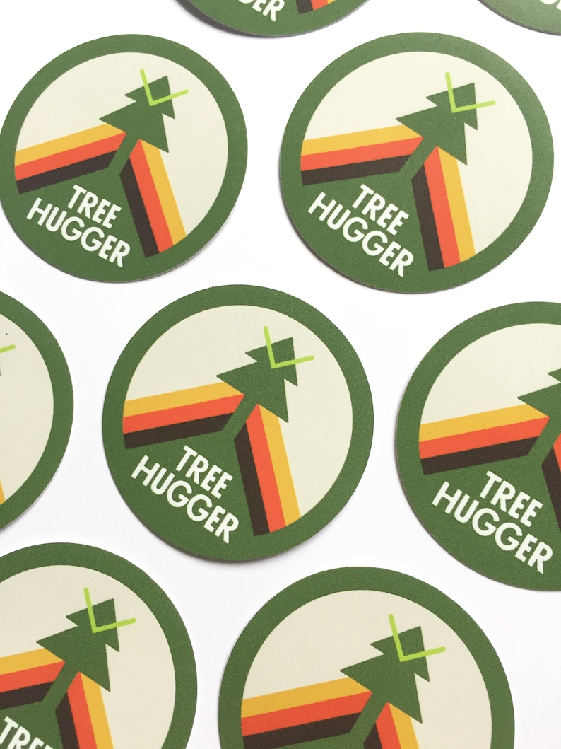 Treehugger 3 vinyl sticker forest explorer sticker image 0