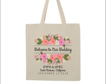 Personalized Wedding welcome tote welcome guest bags hotel wedding welcome totes bag destination wedding day tote bag welcome to our wedding