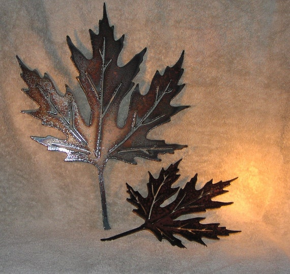 Autumn Leaves-Metal Wall Decor-Suitable for Indoors or | Etsy