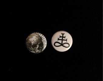 """Brimstone/Skull 1"""" Button Set"""