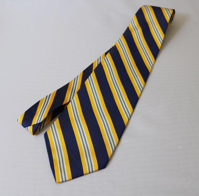 94bab2498263a Polo Ralph Lauren Silk Repp Striped Tie Yellow Navy Blue