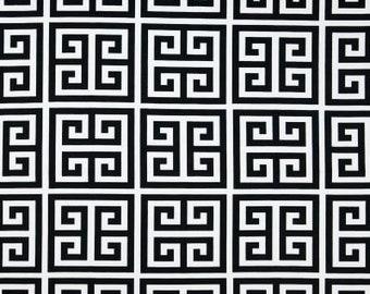 "GREEK KEY TABLE Linens - Table Runner, Napkins,  Black, greek key Modern Puzzle Print 72"" Table Runner Wedding Bridal HOme black"