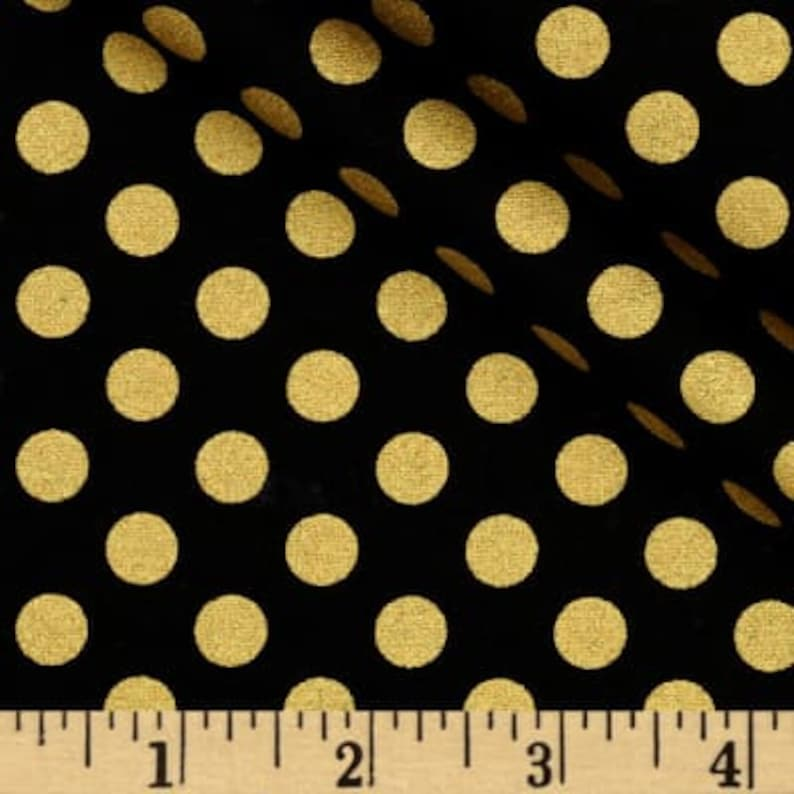 BLACK with GOLD DOT Linens-Last Ones Table Runners Gold image 0