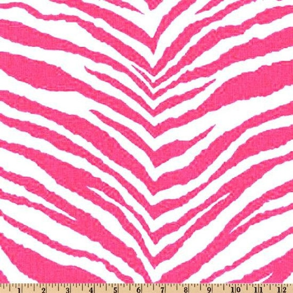 ZEBRA TABLE RUNNER Candy Pink Fuchsia Hot Zebra