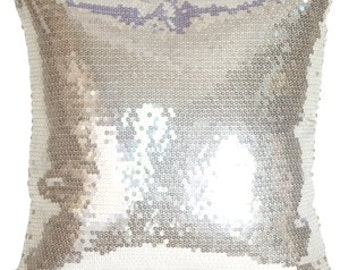 """SEQUIN PILLOW COVERS Bling pillowcase Covers Only  Silver, Gold Throw Pillow Cover 14, 16, 18"""" pillowcase, shams,  Pillow Cover"""
