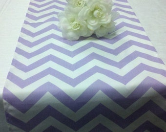 """LAVENDER LILAC CHEVRON Table Runner- or Napkins, or Placemats Chevron Zigzag light purple 13"""" wide Baby Shower, Wedding Bridal shower gift"""