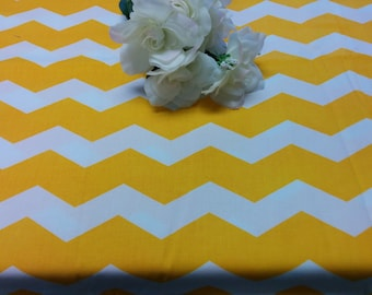 """Super Sale--YELLOW CHEVRON TABLECLOTHS 3 tablecloths 85"""" round, 8' and 10' rectangles, Last Ones, Were 54.00-64.00"""