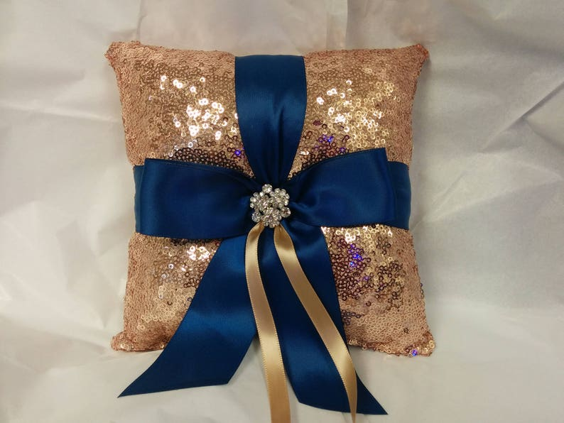 SEQUIN RING PILLOW or Basket Colors Flower Girl Guest book image 0