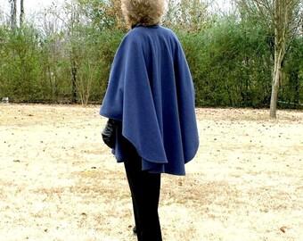 Beautiful dep navy blue poncho..