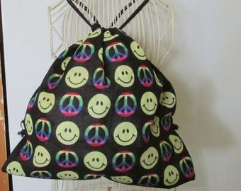 Smiley Face Peace Sign Backpack