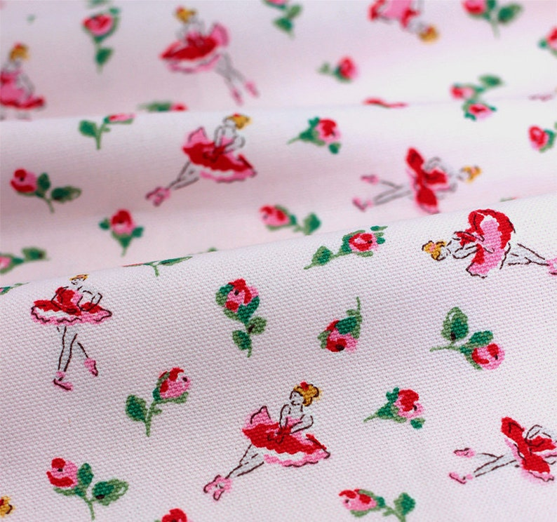 6ebd93f76e7 4831 Cath Kidston Ballerina Rose Light Pink Cotton Canvas | Etsy