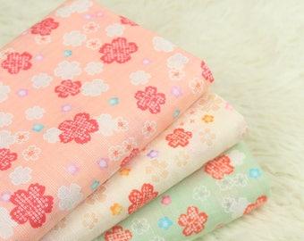 4509 - Cherry Blossom Japanese Import Cotton Fabric - 43 Inch (Width) x 1/2 Yard (Length)