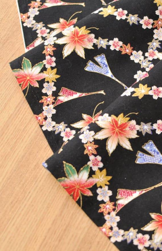 Vintage Rosa De Tela de algodón de material Floral Chic 112 cm de ancho-Sky Blue cualquier longitud