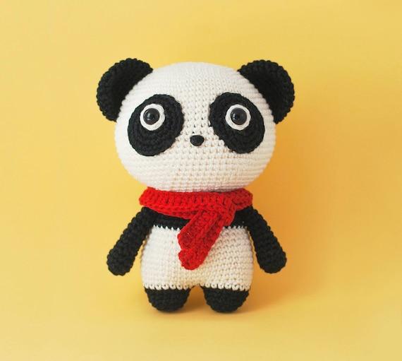 Amigurumi Momo der panda Häkelanleitung PDF