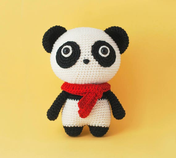 Momo Panda Beer Amigurumi Haakpatroon Pdf Etsy