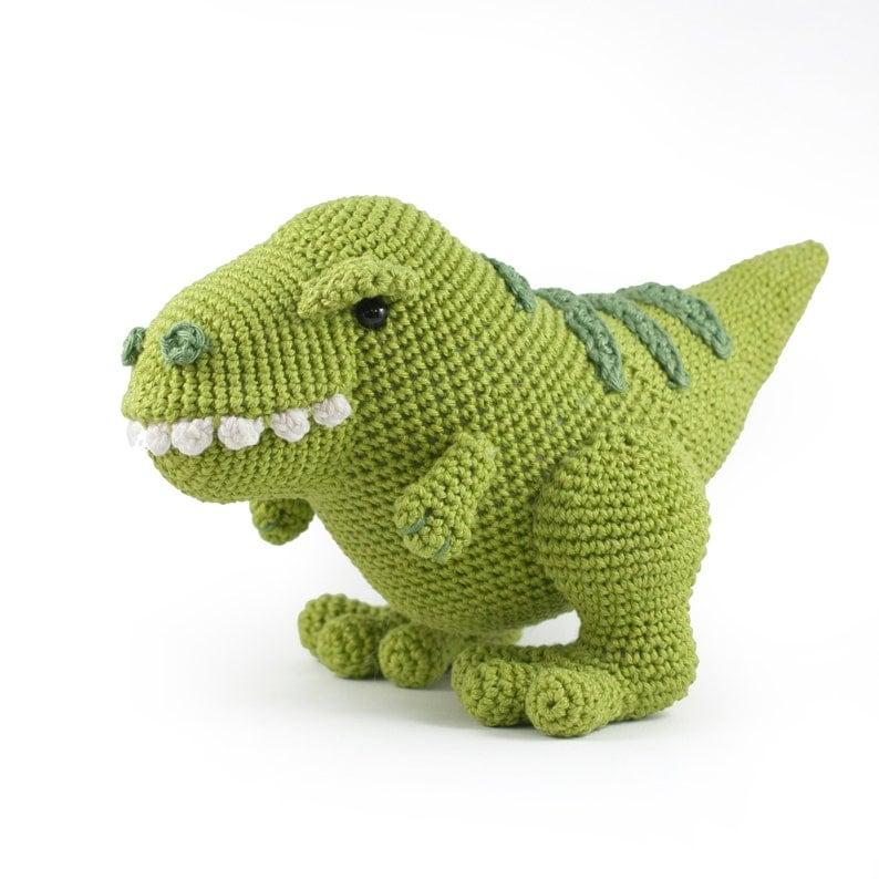 Crochet Pattern Titus The T Rex Dinosaur Amigurumi Pdf Make Etsy