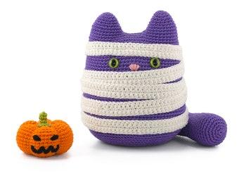 Kiki the cat & Halloween pumpkin Amigurumi crochet pattern PDF